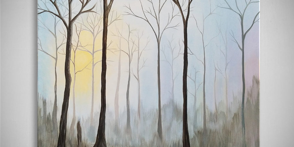 "Finding the Light: Acrylic painting on canvas 24""x30"""